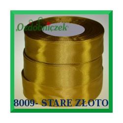 Tasiemka satynowa 25mm kolor stare złoto 8009