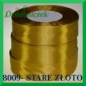 Wstążka tasiemka satynowa 25mm kolor stare złoto 8009