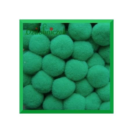 Pompony jasny zielony 13mm/100szt