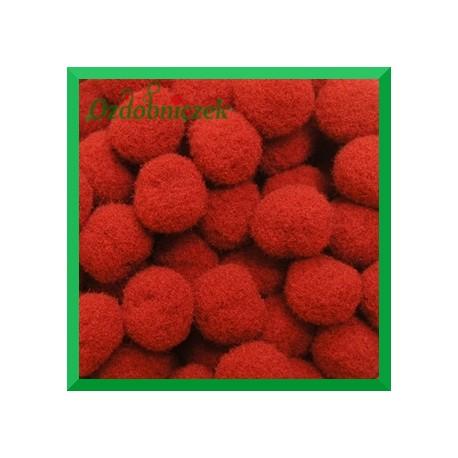 Pompony czerwone13mm/100szt