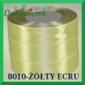 Wstążka tasiemka satynowa 25mm kolor jasny ecru 8010