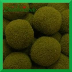 Pompony oliwkowe 20mm/100szt