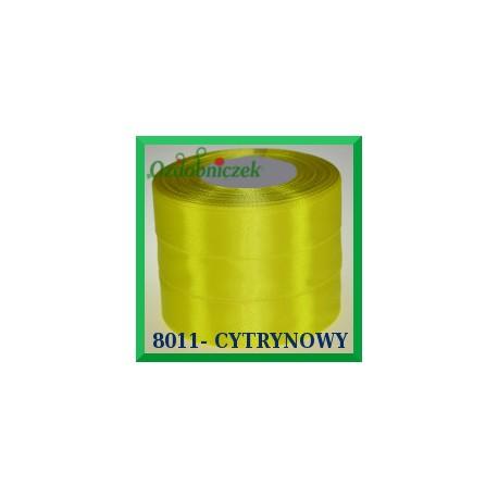 Tasiemka satynowa 25mm kolor cytrynowy 8011