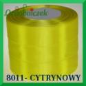 Wstążka tasiemka satynowa 25mm kolor cytrynowy 8011