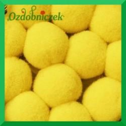 Pompony żółte 20mm/100szt