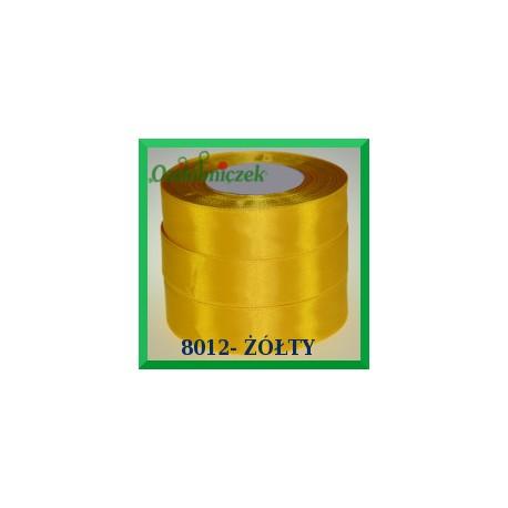 Tasiemka satynowa 25mm kolor żółty 8012
