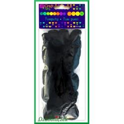 Pompony puszyste mix rozmiarów czarne