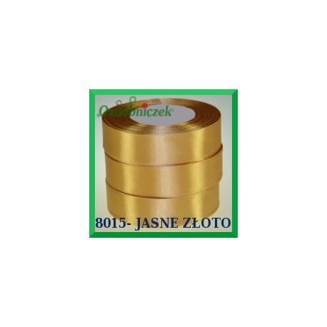 Tasiemka satynowa 25mm kolor jasne złoto 8015