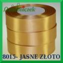 Wstążka tasiemka satynowa 25mm kolor jasne złoto 8015