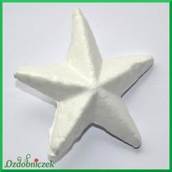 Gwiazdka styropianowa wypukła duża