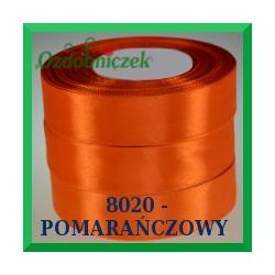 Tasiemka satynowa 25mm kolor pomarańczowy 8020