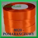Wstążka tasiemka satynowa 25mm kolor pomarańczowy 8020