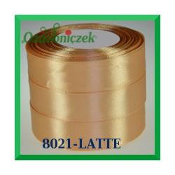 Wstążka tasiemka satynowa 25mm kolor latte 8021