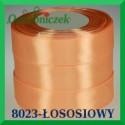 Wstążka tasiemka satynowa 25mm kolor łosoś 8023