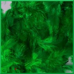 Piórka puszyste zielone 7g