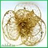 Kwiat ażurowy złoty z brokatem