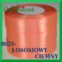 Wstążka tasiemka satynowa 25mm kolor ciemny łosoś 8025