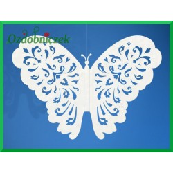 Zawieszka papierowa motyl 14x10cm