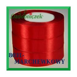 Tasiemka satynowa 25mm kolor marchewkowy 8031