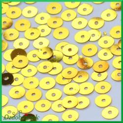 Cekiny płaskie 6mm złote