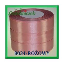 Tasiemka satynowa 25mm kolor pudrowy róż 8034