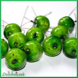 Rajskie jabłuszka zielone na druciku 6szt.