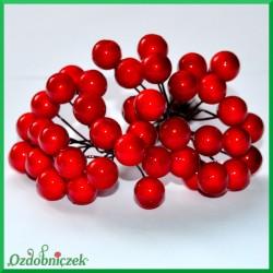 Jagódki na druciku -  kolor czerwony