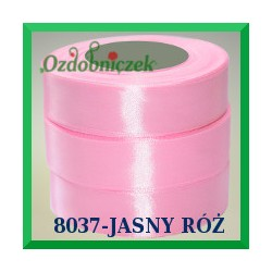 Tasiemka satynowa 25mm kolor jasny róż 8037
