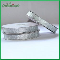 Wstążka brokatowa srebrna 12mm