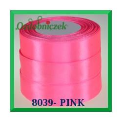 Tasiemka satynowa 25mm kolor pink 8039