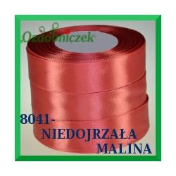 Wstążka tasiemka satynowa 25mm kolor niedojrzała malina 8041