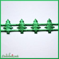 Aplikacje choinki zielone metaliczne