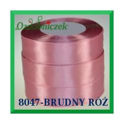 Wstążka tasiemka satynowa 25mm kolor brudny róż 8047