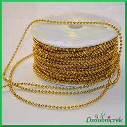 Koraliki na sznurku 3mm/1mb złote
