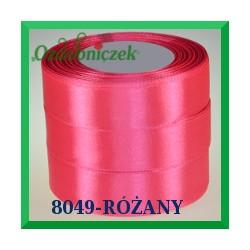 Wstążka tasiemka satynowa 25mm kolor różany 8049