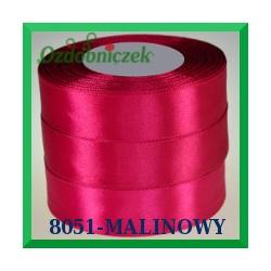 Wstążka tasiemka satynowa 25mm kolor malinowy 8051