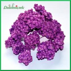 Mini kuleczki brokatowe fioletowe gałązka 6szt