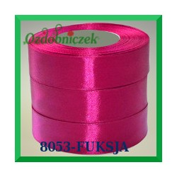 Wstążka tasiemka satynowa 25mm kolor fuksja 8053