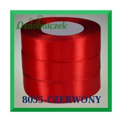 Wstążka tasiemka satynowa 25mm kolor czerwony 8055