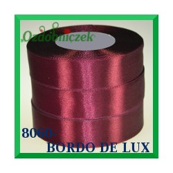 Tasiemka satynowa 25mm kolor bordo de lux 8060