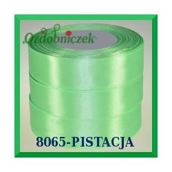 Wstążka tasiemka satynowa 25mm kolor pistacja 8065