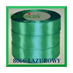 Wstążka tasiemka satynowa 25mm kolor lazurowy 8066