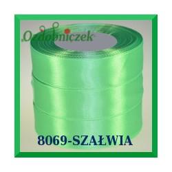 Wstążka tasiemka satynowa 25mm kolor szałwia 8069