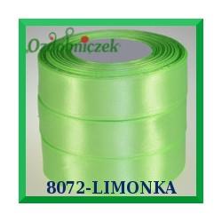 Wstążka tasiemka satynowa 25mm kolor limonka 8072