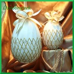 Kraszanka złota 10 cm jajko naturalne