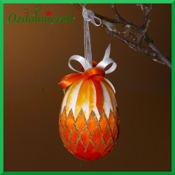 Kraszanka złota 15 cm jajko pomarańczowe