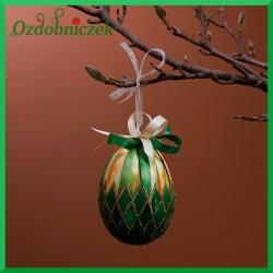 Kraszanka złota 10 cm jajko zielone