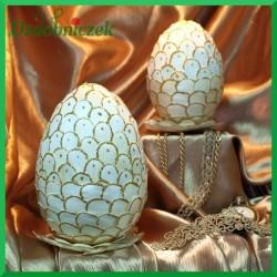 Witrażowa obiata 10 cm jajko naturalne