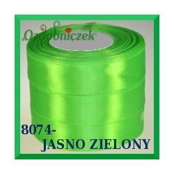 Wstążka tasiemka satynowa 25mm kolor jasny zielony 8074