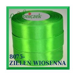 Wstążka tasiemka satynowa 25mm kolor zieleń wiosenna 8075